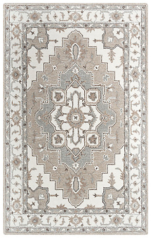 """Rizzy Home Conley 5' x 7'6"""" Tufted Area Rug, Beige, large"""