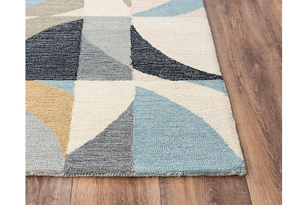 """Rizzy Home Midland 5' x 7'6"""" Tufted Area Rug, Beige, large"""