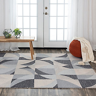 """Rizzy Home Midland 5' x 7'6"""" Tufted Area Rug, Gray, rollover"""