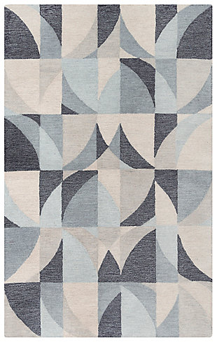 """Rizzy Home Midland 5' x 7'6"""" Tufted Area Rug, Gray, large"""