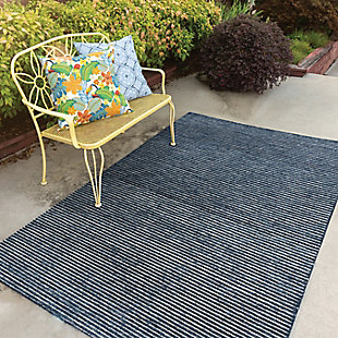 """Rizzy Home Vista 5' x 7'6"""" Tufted Area Rug, Blue, rollover"""