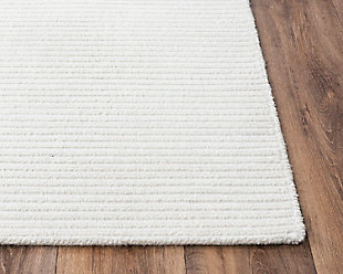 """Rizzy Home Vista 7'9"""" x 9'9"""" Tufted Area Rug, White, large"""