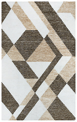 """Rizzy Home Vista 7'9"""" x 9'9"""" Tufted Area Rug, Brown, large"""
