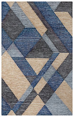 """Rizzy Home Vista 5' x 7'6"""" Tufted Area Rug, Ivory, large"""