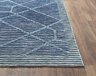 """Rizzy Home Vista 5' x 7'6"""" Tufted Area Rug, Blue, large"""