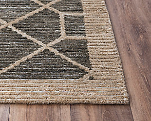 """Rizzy Home Vista 5' x 7'6"""" Tufted Area Rug, Brown, large"""