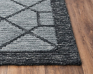 """Rizzy Home Vista 5' x 7'6"""" Tufted Area Rug, Gray, large"""