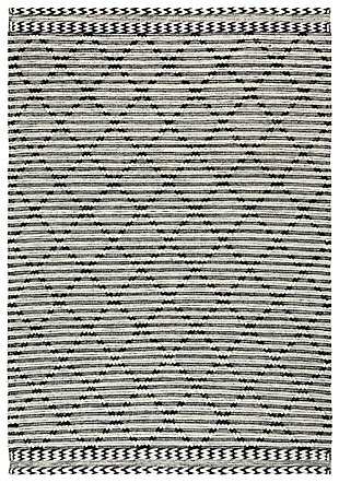 """Rizzy Home Kerala 5' x 7'6"""" Hand Woven Area Rug, Black, large"""