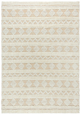 """Rizzy Home Kerala 5' x 7'6"""" Hand Woven Area Rug, Beige, large"""