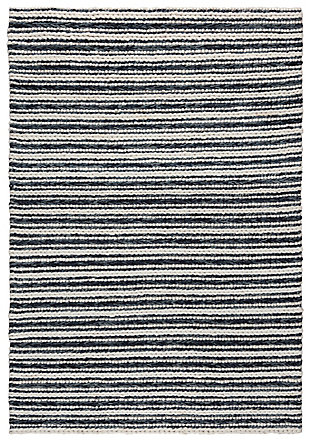"Rizzy Home Kolkata 5' x 7'6"" Hand Woven Area Rug, Black, large"