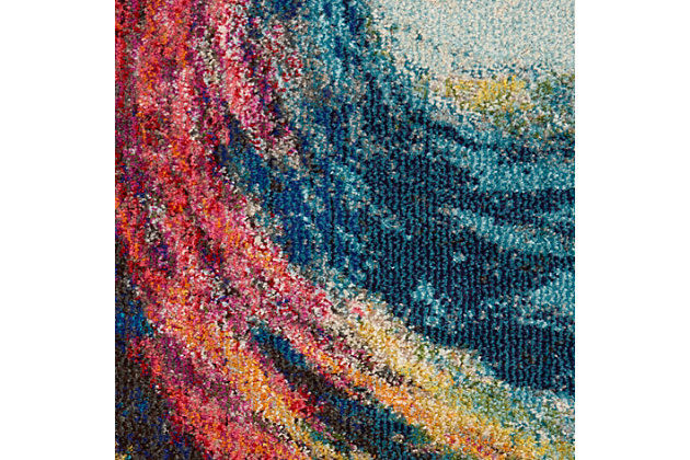 Nourison Celestial 3' x 5' Wave Abstract Rug, Wave, large