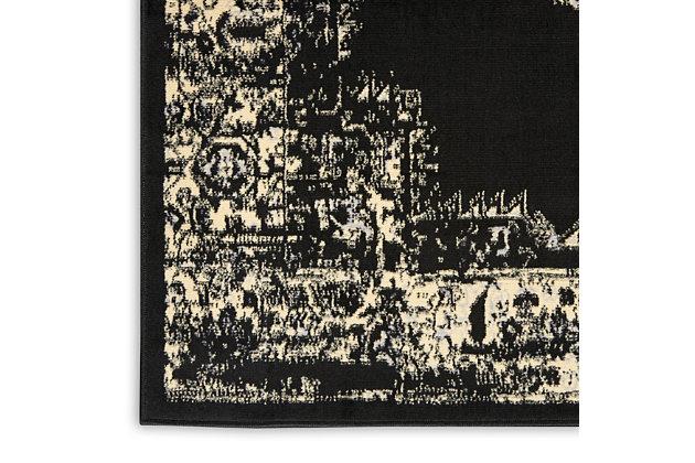 "Nourison Grafix 3'9"" x 5'9"" Center Medallion Rug, Black, large"