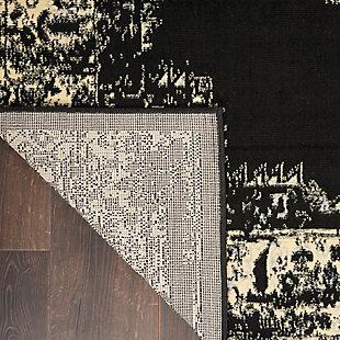 "Nourison Grafix 5'3"" x 7'3"" Center Medallion Rug, Black, large"
