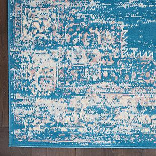 "Nourison Grafix 5'3"" x 7'3"" Center Medallion Rug, Blue, large"