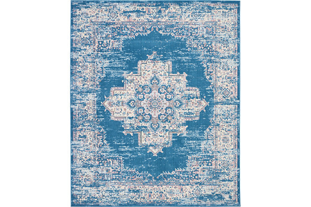 Nourison Grafix 7' x 10' Rug, Blue, large
