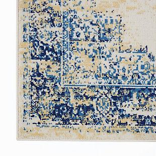 "Nourison Grafix 3'9"" x 5'9"" Center Medallion Rug, White, large"