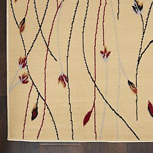 """Nourison Grafix 7'10"""" X 9'10"""" Botanical Rug, Cream, large"""