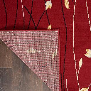 Nourison Grafix 7' X 10' Botanical Rug, Red, large