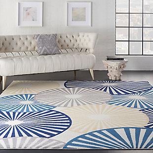 Nourison Grafix 7' X 10' Geometric Rug, White, rollover