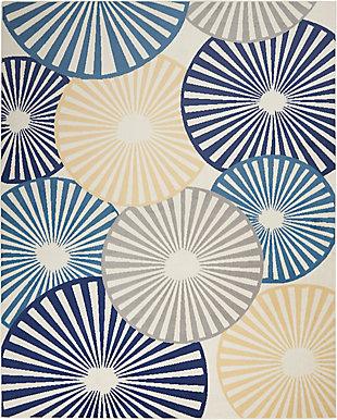 Nourison Grafix 7' X 10' Geometric Rug, White, large
