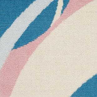 """Nourison Grafix 5'3"""" X 7'3"""" All-over Design Rug, Blue/Multi, large"""