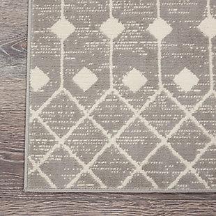 Nourison Grafix 2' X 4' Rug, Gray, large