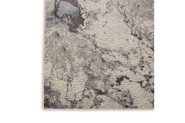 """Nourison Maxell 2'2"""" x 3'9"""" Abstract Rug, Gray, large"""