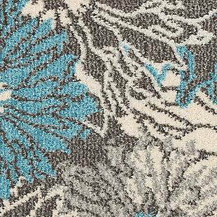 """Nourison Passion 2'2"""" X 10' Rug, Charcoal/Blue, large"""