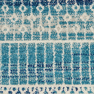 "Nourison Passion 6'7"" x 9'6"" Geometric Rug, Navy Blue, large"