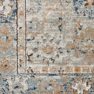 "Nourison Quarry 5'3"" X 7'3"" Bordered Rug, Gray/Light Blue, large"