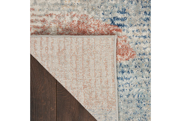 """Nourison Quarry 5'3"""" X 7'3"""" Abstract Rug, Ivory/Multi, large"""