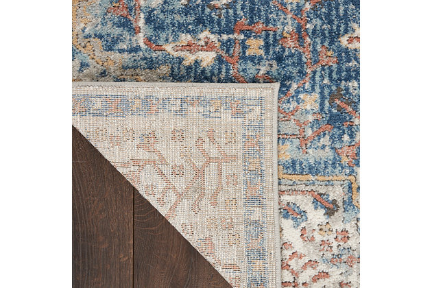 "Nourison Quarry 5'3"" X 7'3"" Bordered Rug, Blue/Gray, large"
