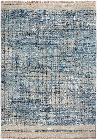 """Nourison Quarry 5'3"""" X 7'3"""" Abstract Rug, Blue, large"""