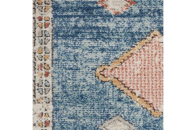 "Nourison Quarry 5'3"" X 7'3"" Bordered Rug, Blue, large"