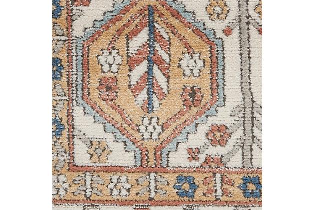 "Nourison Quarry 5'3"" X 7'3"" Bordered Rug, Ivory/Multi, large"