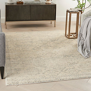 """Nourison Tranquil 5'3"""" x 7'3"""" All-over Design Rug, Beige/Gray, rollover"""