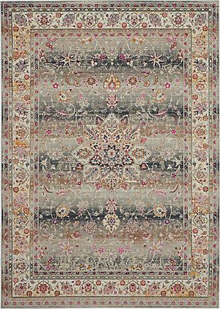 """Nourison Vintage Kashan 4'6"""" x 6'6"""" Rug, Gray, large"""