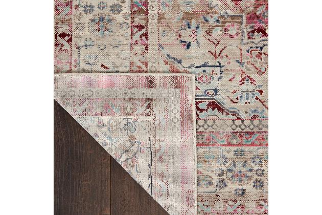 """Nourison Vintage Kashan 5'3"""" X 7'10"""" Bordered Rug, Red/Ivory, large"""