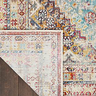 """Nourison Vintage Kashan 5'3"""" x 7'10"""" Bordered Rug, Multi, large"""