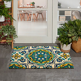 """Waverly Greetings 1'6"""" X 2'4"""" Rug, Bluebell, rollover"""