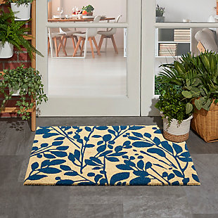 """Waverly Greetings 1'6"""" X 2'4"""" Rug, Navy, rollover"""