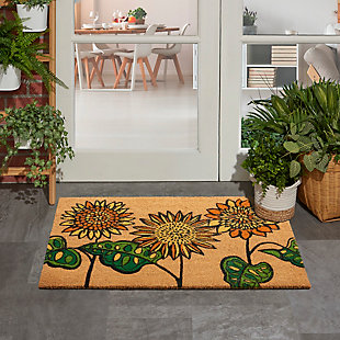 """Waverly Greetings 1'6"""" X 2'4"""" Rug, Yellow, rollover"""