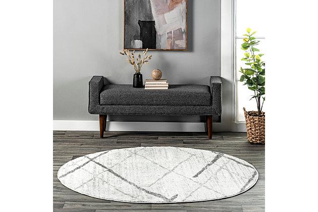 nuLOOM Thigpen 5' x 5' Rug, Gray, large