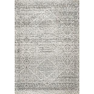 nuLOOM Hart Machine Washable Abstract Tribal 5' x 8' Rug, Gray, large