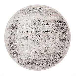 nuLOOM Vintage Speckled Shaunte 5' x 5' Rug, Silver, large