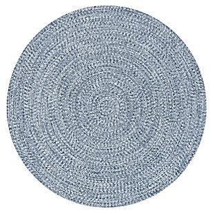 nuLOOM Braided Lefebvre Outdoor 5' x 5' Rug, Light Blue, large
