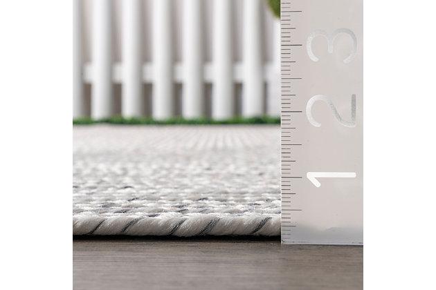 nuLOOM Braided Lefebvre Outdoor 6' x 6' Rug, Ivory, large