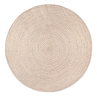 nuLOOM Braided Lefebvre Outdoor 5' x 5' Rug, Tan, large