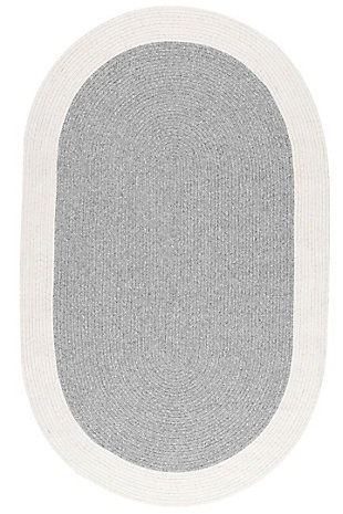 nuLOOM Braided Solid Border Delaine Outdoor 6' x 6' Rug, , large