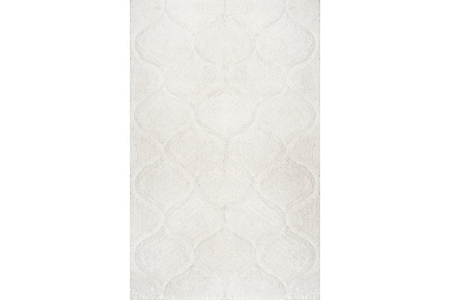 nuLOOM Shaggy Elsie 5' x 8' Rug, White, large
